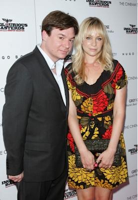 """Mike Myers and Kelly Tisdale attend The Cinema Society & Hugo Boss screening of """"Inglourious Basterds"""" at SVA Theater in New York City on August 17, 2009 -- Getty Premium"""