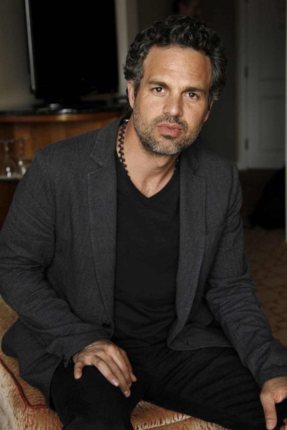 "In this April 12, 2012 photo, cast member Mark Ruffalo, from the upcoming film ""The Avengers"", poses for a portrait in Beverly Hills, Calif. The film will be released in theaters on May 4. (AP Photo/Matt Sayles)"