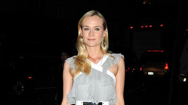 "Joshua Jackson's better half, actress Diane Kruger (""Inglourious Basterds""), easily earned herself a place in this week's gallery thanks to the Prabal Gurung masterpiece she wore to the recent Quentin Tarantino tribute at New York's Museum of Modern Art. That mirrored belt is to die for! (12/3/2012)"