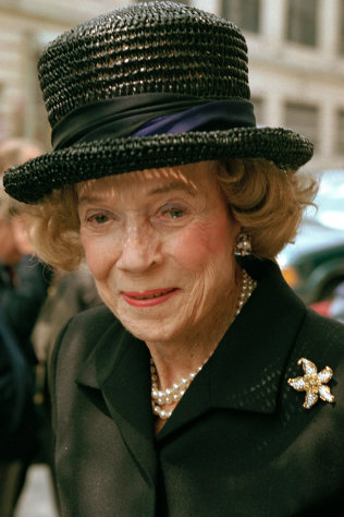 FILE - In this May 1, 1997 file photo, Brooke Astor attends a function in New York. The immaculately dressed grande dame of New York City - philanthropist, taste-setter and host extraordinaire - died in 2007 at the age of 105. Sotheby&#39;s New York will conduct a two-day auction on Sept. 24-25, 2012 of some 900 personal items from Astor&#39;s Park Avenue duplex and her stone manor in Westchester. (AP Photo/Serge J.F. Levy, File)