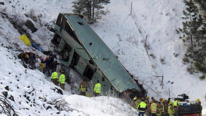 Probe of Ore. tour bus crash may take a month
