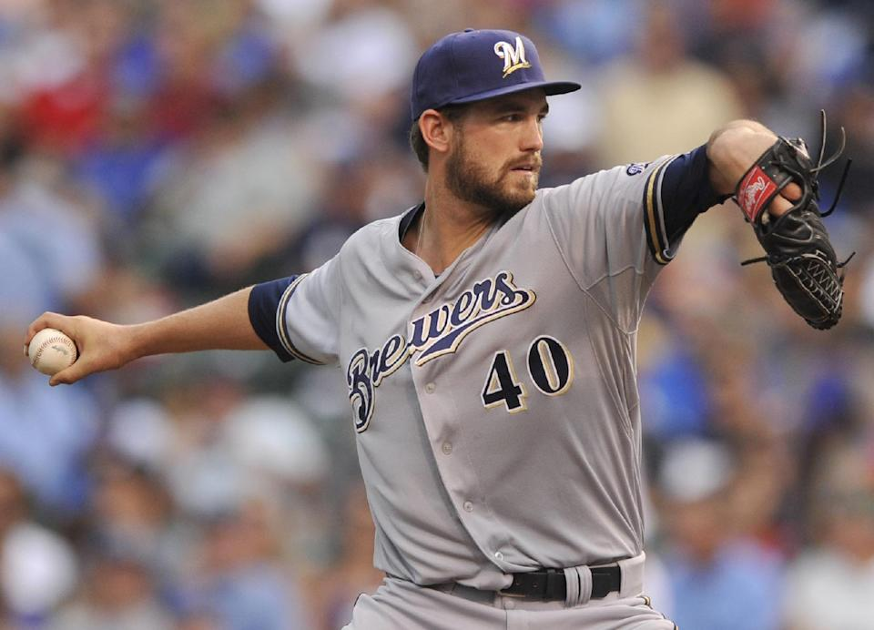 Hellweg gets first win as Brewers beat Cubs 5-3