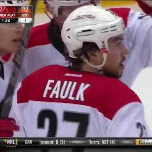 Justin Faulk Goal on Chad Johnson (01:26/2nd)