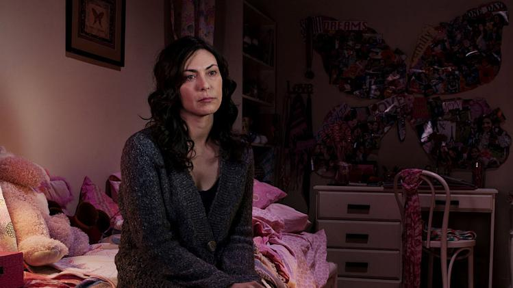 "Michelle Forbes as Mitch Larson in ""The Killing."""
