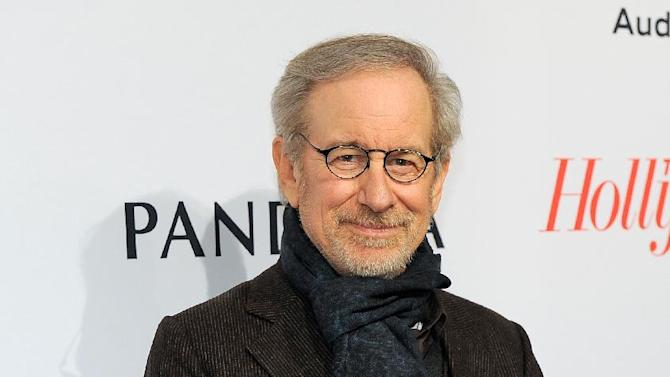 IMAGE DISTRIBUTED FOR THE HOLLYWOOD REPORTER - Steven Spielberg arrives at The Hollywood Reporter Nominees' Night at Spago on Monday, Feb. 4, 2013, in Beverly Hills, Calif. (Photo by Chris Pizzello/Invision for The Hollywood Reporter/AP Images)c