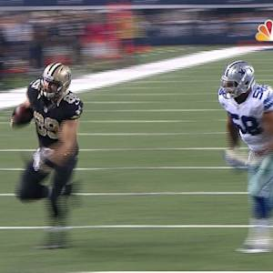 New Orleans Saints quarterback Drew Brees 12-yard TD pass to Hill