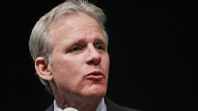 FILE - In this March 1, 2011 file photo, Israeli ambassador to the US Michael B. Oren speaks in Lakewood, Colo. Oren is stepping down after more than four years on the job. Oren says he'll finish his term this fall. The Israeli Embassy in Washington is not commenting on who will replace Oren or when a replacement will be named. (AP Photo/Ed Andrieski, File)