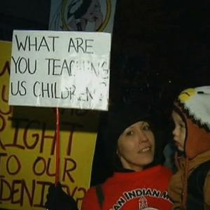 Protesters Call for Redskins to Change Name