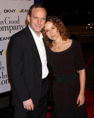 Premiere: Clark Gregg and Jennifer Grey at the Hollywood premiere of Universal Pictures' In Good Company - 12/6/2004