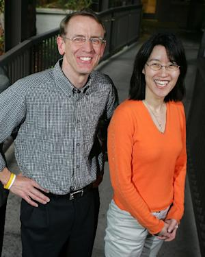 FILE - In this April 4, 2006 file photo, venture capitalist John Doerr poses for a portrait with partner Ellen Pao outside of their office in Menlo Park, Calif. San Francisco Superior Court Judge Harold Kahn has scheduled a hearing Friday, July 20, 2012 to consider the firm Kleiner, Perkins, Caulfied & Byers' request to move Pao's sexual harassment lawsuit from court to arbitration, which are usually litigated confidentially. Pao filed a lawsuit in May alleging senior partners ignored her complaints that a spurned romantic interest at the firm was harassing her. (AP Photo/Marcio Jose Sanchez, File)