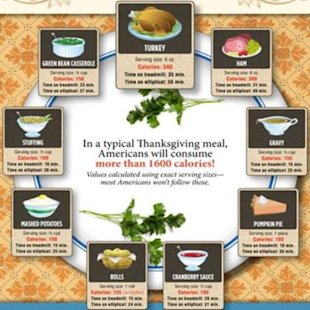 How many calories will you consume on Thanksgiving?