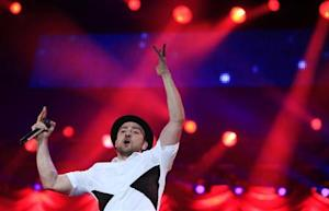 U.S. singer-sonwriter Justin Timberlake performs at the Rock in Rio Music Festival in Rio de Janeiro