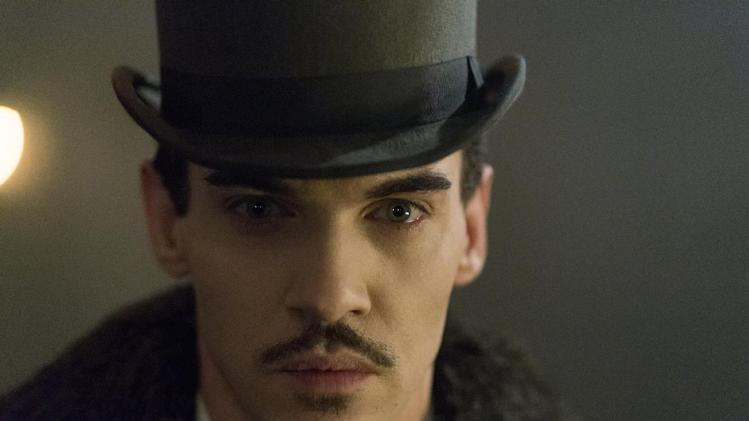 """This is an undated publicity image released by NBC shows Jonathan Rhys Meyers as Alexander Grayson in """"Dracula,"""" . Rhys Meyers is in NBC's new series """"Dracula,"""" playing the world's most famous vampire as a sleekly alluring bloodsucker. Still, he says he hesitated when the part was offered to him, hoping for something a little more, well, normal. (AP Photo/NBC, Jonathon Hession)"""