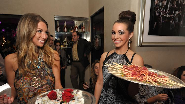 "Stassi Schroeder and Scheana Marie attend the premiere party for ""Vanderpump Rules"" at SUR restaurant, on Monday, Dec. 10, 2012 in Los Angeles. The show premieres on January 7, 2013 on Bravo.  (Photo by John Shearer/Invision for Bravo/ AP Images)"