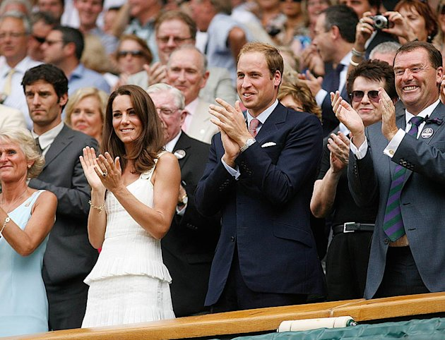 Middleton Prince William Wimbledon