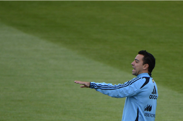 Spanish Midfielder Xavi Hernandez Gestures AFP/Getty Images