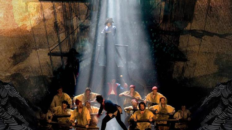 "This undated theater image released by The Publicity Office shows a scene from the musical ""Les Miserables."" The touring production will come to Broadway in March 2014. (AP Photo/The Publicity Office, Catherine Ashmore)"