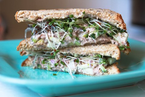 Cucumber Apple Tuna Salad Sandwich