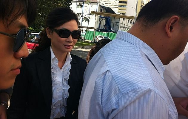 Cecilia Sue appears for the fourth day of court proceedings in the high-profile sex-for-favours case. (Yahoo! photo)