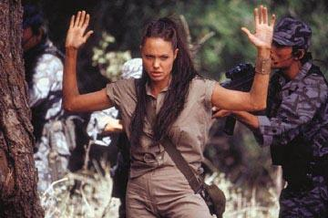 Angelina Jolie as Lara Croft in Paramount's Lara Croft Tomb Raider: The Cradle of Life