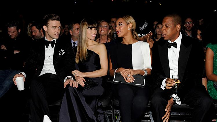 Grammys 2013 Most Memorable Photos from Grammy Night:  Jay-Z, Beyonce, Justin Timberlake and Jessica Biel