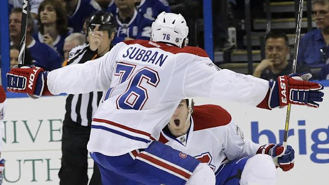 Weise's OT goal lifts Canadiens over Lightning 5-4