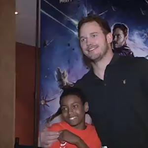 Chris Pratt Adorably Surprises Kids at a 'Guardians of the Galaxy' Screening