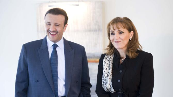 IMAGE DISTRIBUTED FOR MEXICO TOURISM - Mexico Secretary of Tourism Gloria Guevara Manzo meets with Prince Sultan bin Salman bin Abdulaziz Al-Saud at the Georgetown Four Seasons in Washington, on Thursday, Nov. 15, 2012.  (Kevin Wolf /AP Images for Mexico Tourism)
