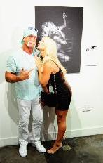 Hulk Hogan and Brooke Hogan attend Brooke Hogan's portrait unveiling at Women In cages exhibit at Cafeina Lounge in Miami, Flor., on August 11, 2011  -- Getty Premium
