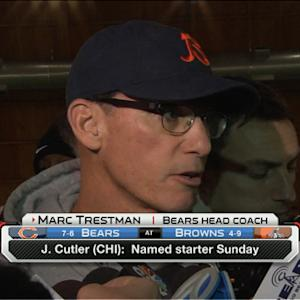 Chicago Bears coach Marc Trestman confident QB Jay Cutler will be ready
