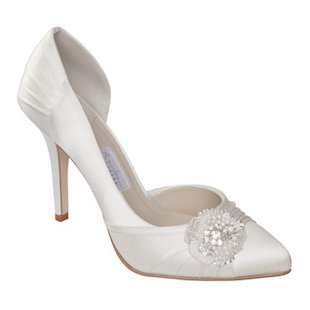 Ivory Sasso D'Orsay Ivory Satin Court Shoes Rainbow Club: What to Wear: Wedding