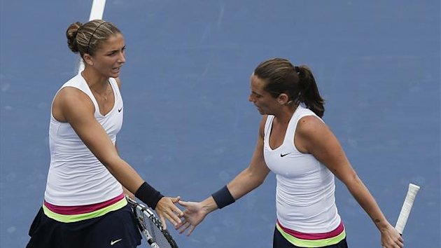 Tennis US Open 2012 Women&#39;s Double Sara Errani and Roberta Vinci