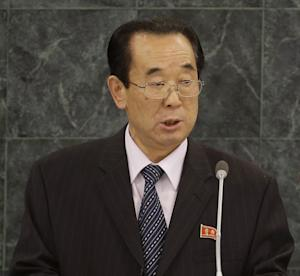 North Korean Foreign Affairs Vice-Minister Pak Kil-yon speaks during the 68th session of the General Assembly at United Nations headquarters, Tuesday, Oct. 1, 2013. (AP Photo/Seth Wenig)
