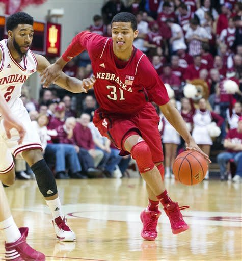 No. 1 Indiana holds off Nebraska 76-47