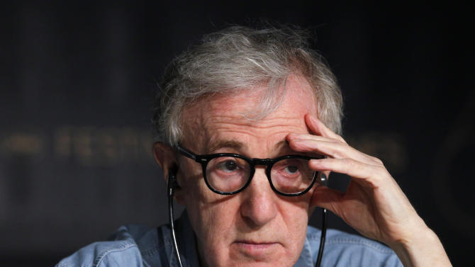 Director Woody Allen attends a press conference for Midnight in Paris, at the 64th international film festival, in Cannes, southern France, Wednesday, May 11, 2011. (AP Photo/Francois Mori)