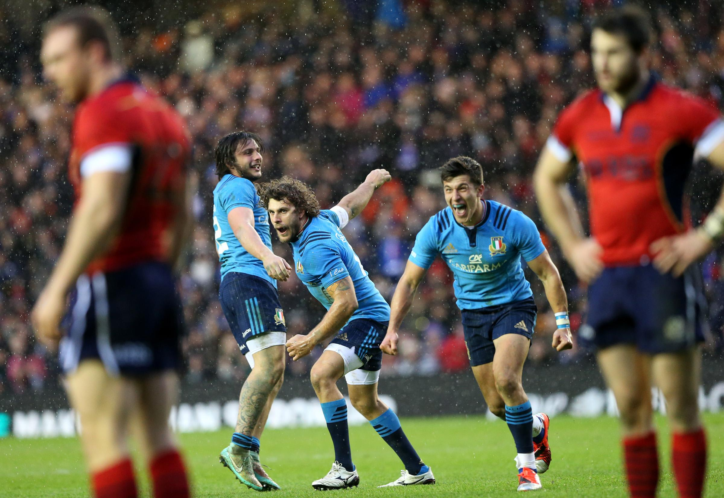6N: Italy beats Scotland 22-19 with late penalty try
