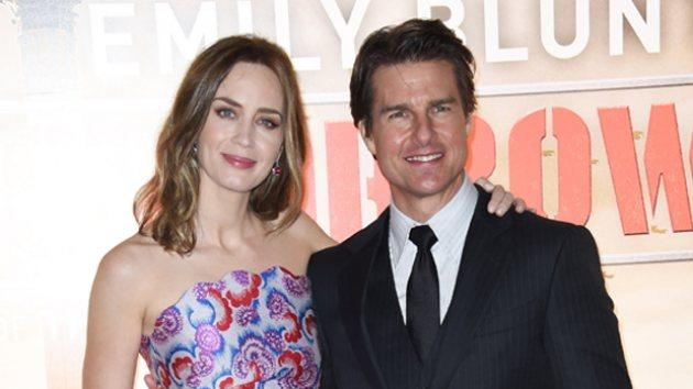 Emily Blunt and Tom Cruise attend the world premiere of 'The Edge Of Tomorrow' at The Imax on May 28, 2014 in London -- Getty Images