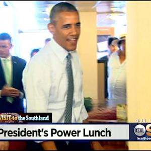 President Obama Surprises Canter's Deli With Surprise Visit