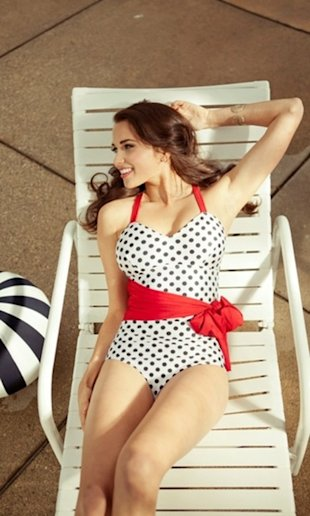 Polka-dot Swimsuit from Shabby Apple