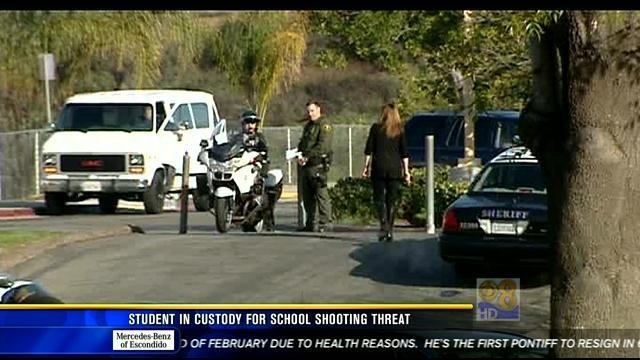 Student in custody for school shooting threat