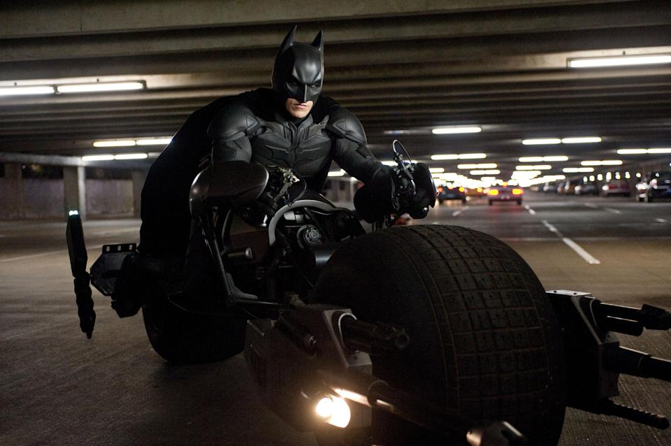 "This undated film image released by Warner Bros. Pictures shows Christian Bale as Batman in a scene from the action thriller ""The Dark Knight Rises."" (AP Photo/Warner Bros. Pictures, Ron Phillips)"