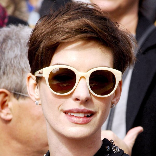 Anne Hathaway&amp;#39;s choppy pixie crop is bang-on-trend for 2013 and works for anyone with Anne&amp;#39;s delicate features and face shape Rex