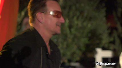 Bono Makes Surprise Appearance at Studio Africa Party in Coachella Valley