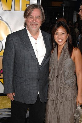 Matt Groening and Michelle Kwan at the Los Angeles premiere of 20th Century Fox's The Simpsons Movie