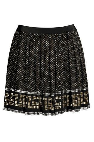 Best: This skirt hits on three big current trends—graphic prints (their signature Greek key pattern), black and white, and polka dots.