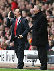 Sir Alex Ferguson, right, and Rafael Benitez have a feud from the Spaniard&#39;s Liverpool tenure