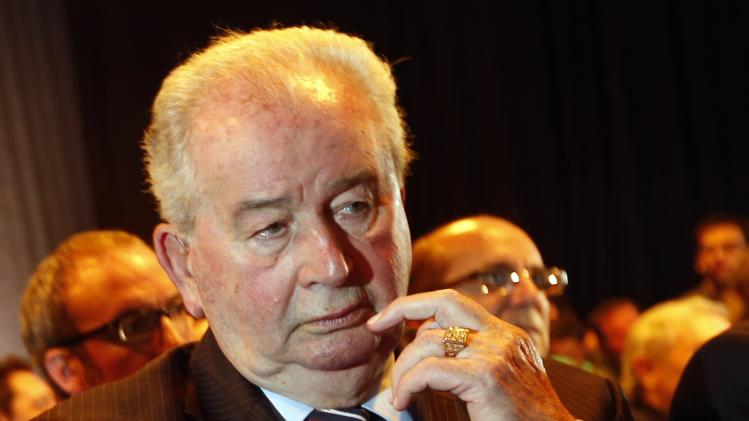 President of the Argentine Football of Association and Vice President of FIFA Julio Grondona is seen in Buenos Aires