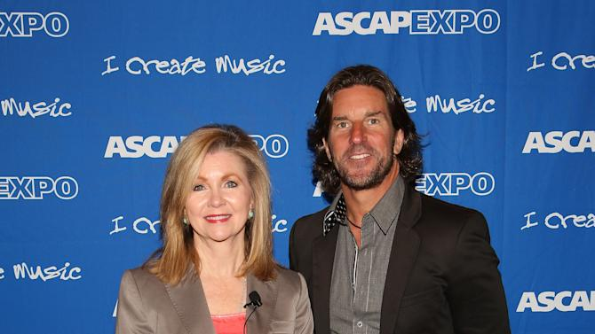 "US Congresswoman Marsha Blackburn (L) and Songwriter/Producer Brett James attend the 8th Annual ASCAP ""I Create Music"" EXPO, on Saturday, April 20, 2013 in Hollywood, California. (Photo by Brian Dowling/Invision for ASCAP/AP Images)"