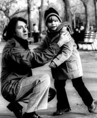 FILE - In this 1979 publicity file photo, Dustin Hoffman, left, and Justin Henry appear in the film, &quot;Kramer vs. Kramer.&quot; Henry was just 6 years old and had never acted when a casting director came to his Rye, N.Y., school looking for someone to play Billy, the little boy at the center of Dustin Hoffman and Meryl Streep&#39;s custody battle. He was 7 when he shot the film and 8 when he was nominated for best supporting actor. (AP Photo, File)