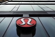 A Lululemon Athletica logo is seen outside one of the company's stores in New York, March 19, 2013.REUTERS/Lucas Jackson